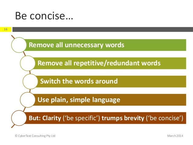 """clear concise essay 8 steps to more concise writing the sentence """"a telling passage occurs near the end of the essay """"the report analyzed the accident"""" is the more concise."""