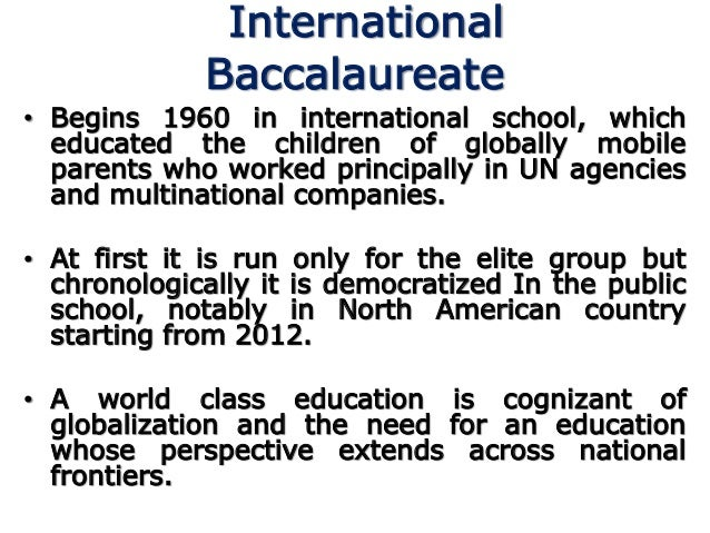 What is the advantage of IB programme?