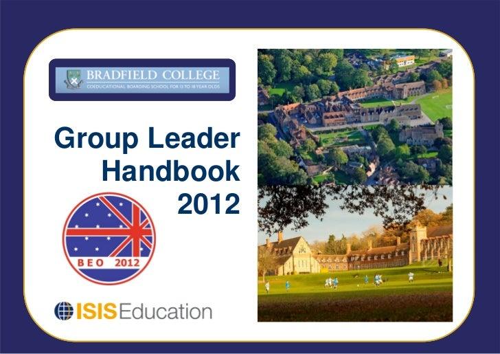 Group Leader   Handbook        2012