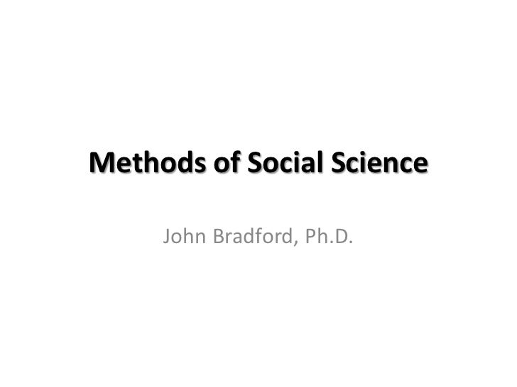 Bradford social psych short chapter 2 methods