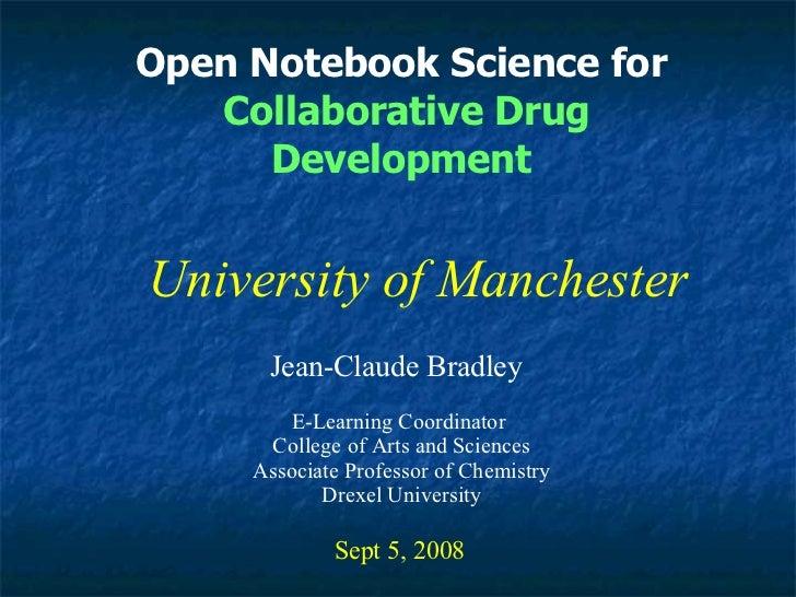 Manchester Open Notebook Science Talk