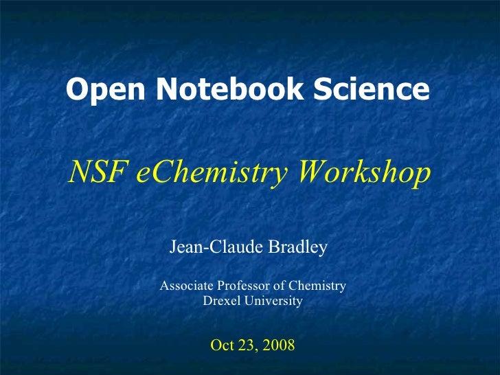 NSF eChemistry workshop