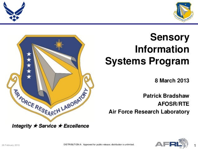 Bradshaw - Sensory Information Systems - Spring Review 2013