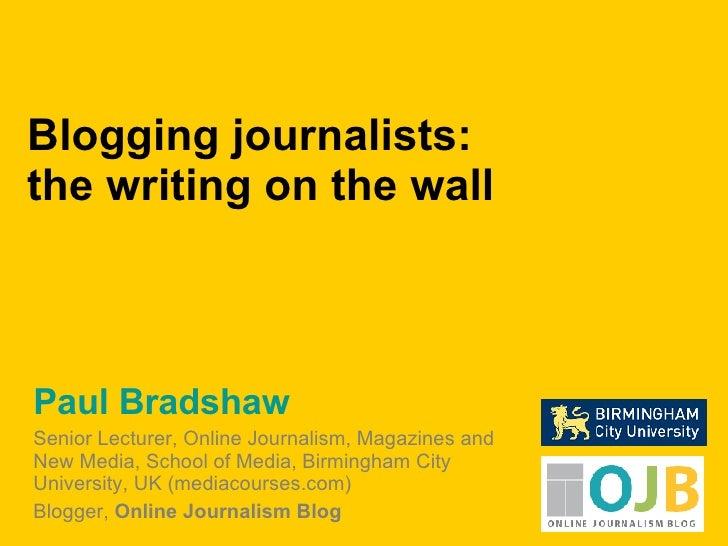 Blogging Journalists
