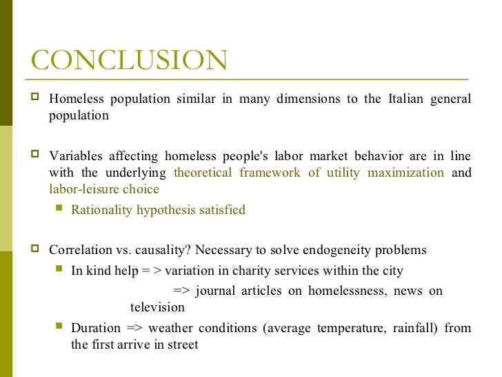 homeless essay conclusion Essay on homeless people четверг of course, when people become homeless coming to a conclusion.