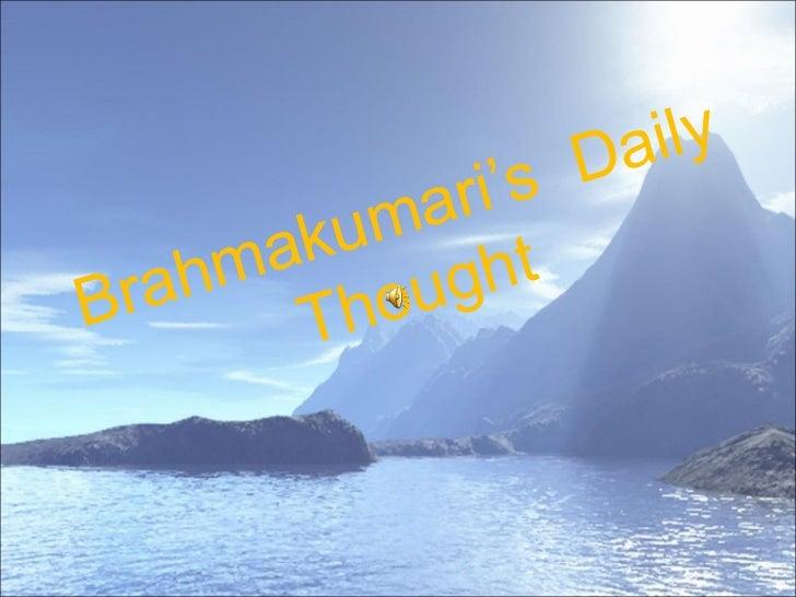 Brahmakumari's  Daily Thought