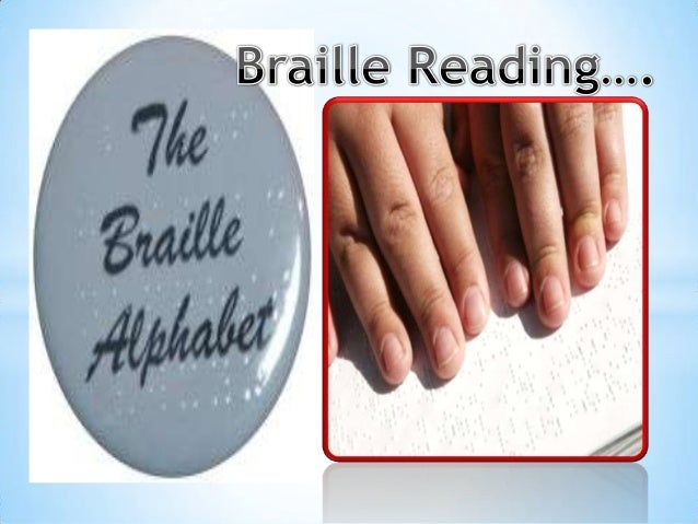 Braille reading slide