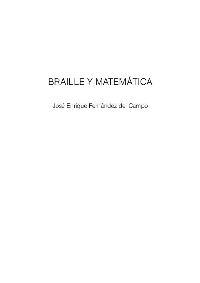Braille y matematica