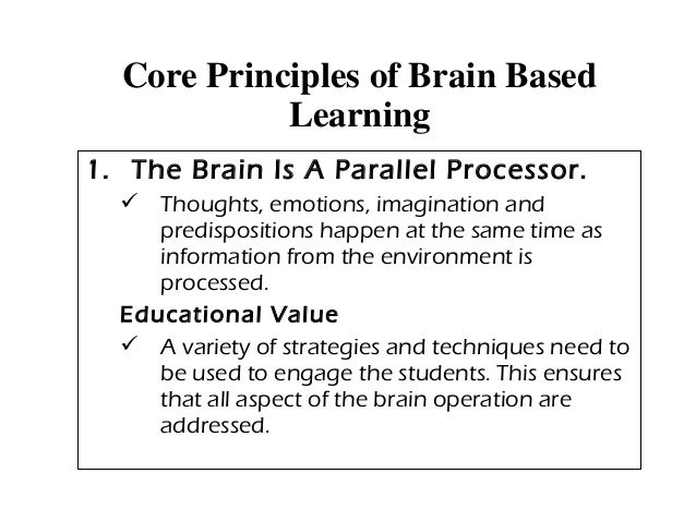 brain based learning environments The paragraphs below are from an essay that i wrote whilst completing my brain based learning certification as there are a lot of great messages for parents and teachers, i thought it would be a good idea to share them with our online community by including them in this month's blog post we hope you.