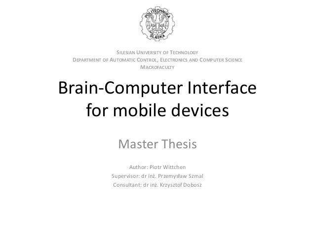 Master Thesis Proposal In Computer Science