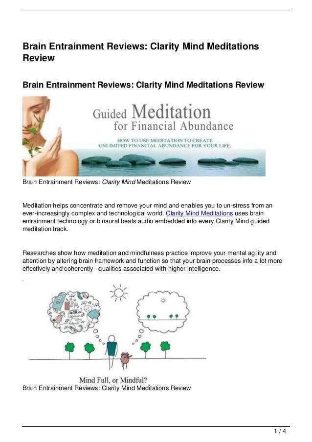 Brain Entrainment Reviews: Clarity Mind MeditationsReviewBrain Entrainment Reviews: Clarity Mind Meditations ReviewBrain E...