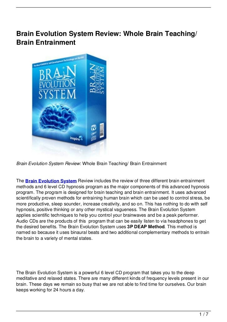 Brain Evolution System Review: Whole Brain Teaching/ Brain Entrainment