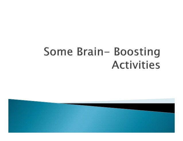 There are many activities which will keep ourbrain in top condition.  Playing games that stimulate brain  Reading  Exercis...