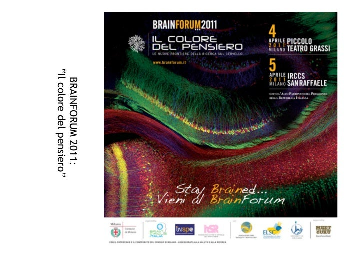 """BRAINFORUM 2011:""""Il colore del pensiero"""""""