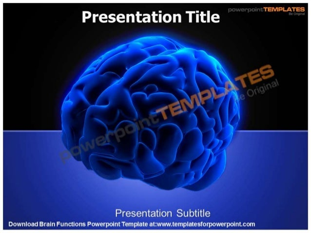 Brain Functions Powerpoint Template - templatesforpowerpoint.com/