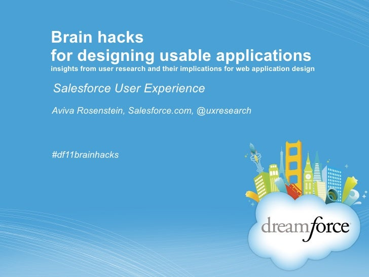 Brain hacks for designing usable applications