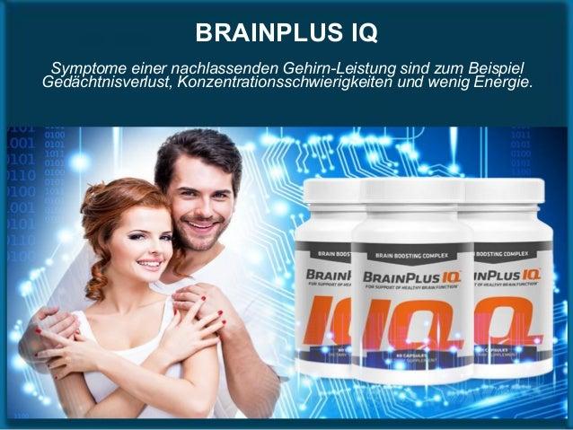 BRAINPLUS IQ Symptome einer nachlassenden Gehirn-Leistung sind zum Beispiel Gedächtnisverlust, Konzentrationsschwierigkeit...