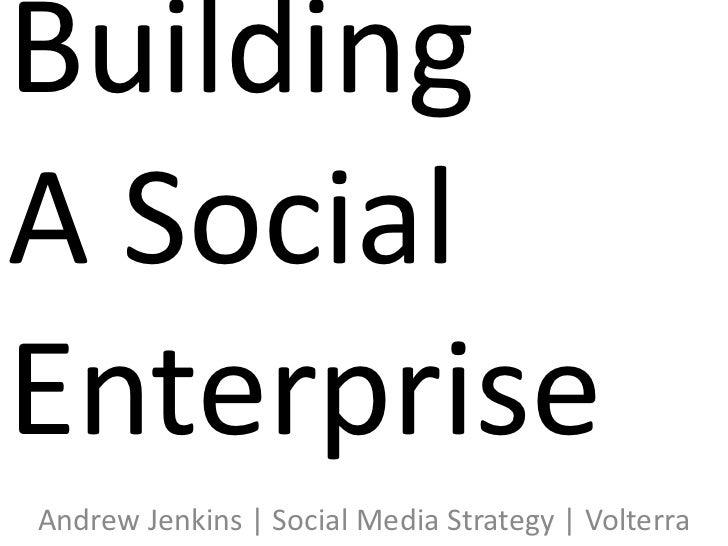 Building a Social Enterprise