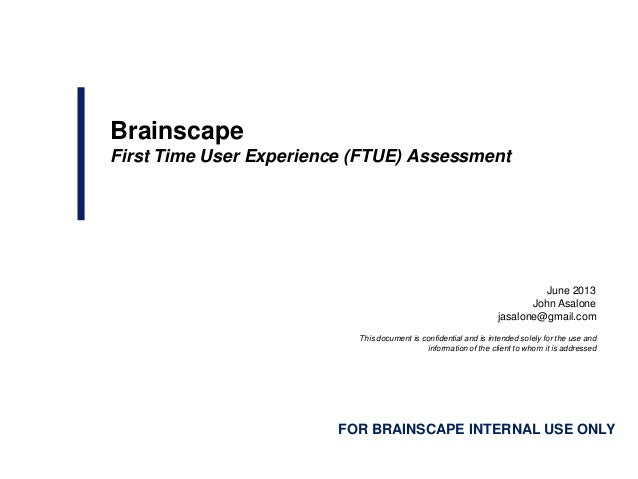 Mobile Apps & The First Time User Experience (FTUE): A Case Study of Brainscape