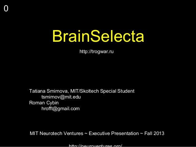 Brain selecta midterm
