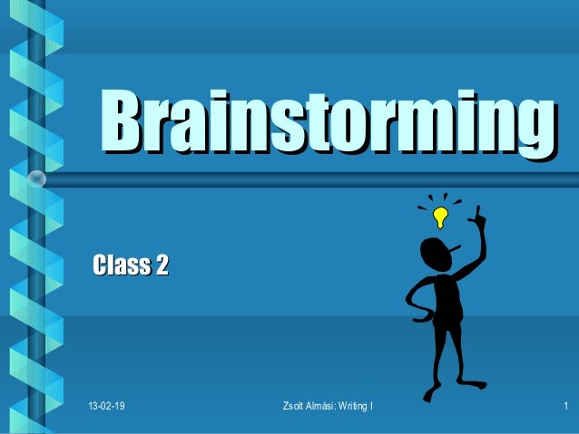 Brainstorm and Thesis Statement