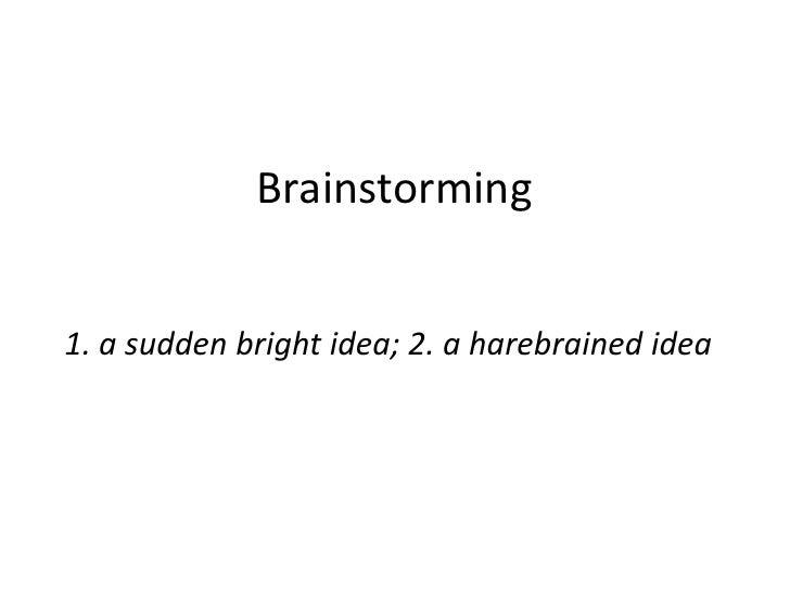 E-LEARN: Brainstorming