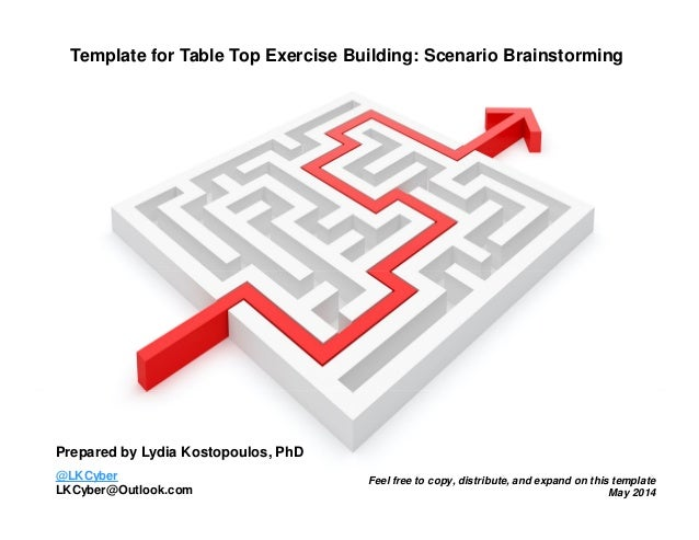 Brainstorming Template for Table Top Exercise Scenario Building