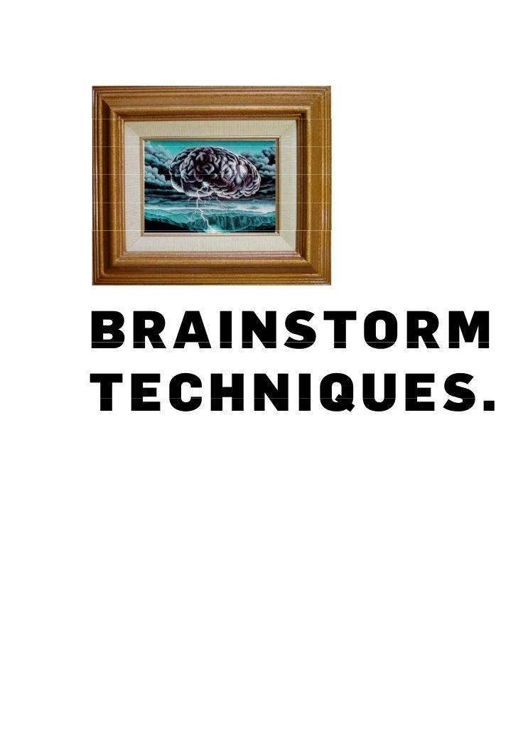 Brainstorming training