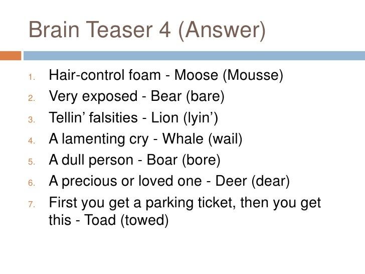 Brain Teasers For Adults With Answers brain teasers