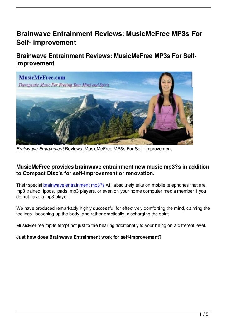Brainwave Entrainment Reviews: MusicMeFree MP3s ForSelf- improvementBrainwave Entrainment Reviews: MusicMeFree MP3s For Se...