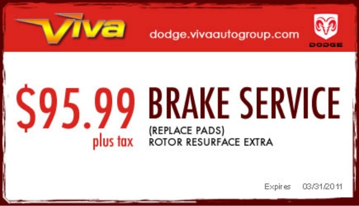 Brake Service Special – Viva Dodge Chrysler Jeep El Paso TX