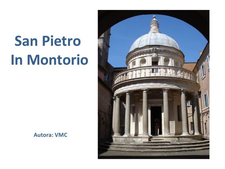 San PietroIn Montorio   Autora: VMC