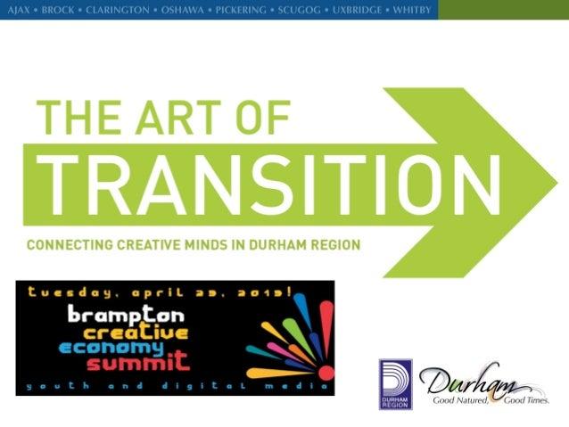 Presentation For Brampton Creative Economy Summit