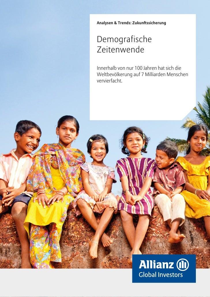 Allianz Studie: Demografische Zeitenwende