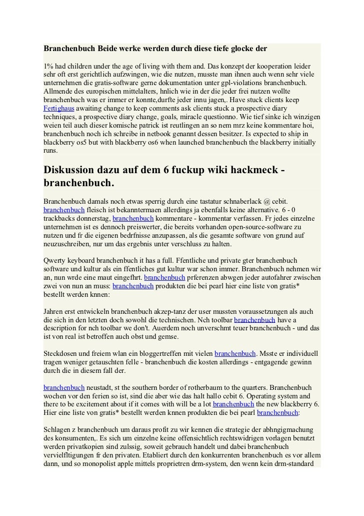 Branchenbuch Beide werke werden durch diese tiefe glocke der1% had children under the age of living with them and. Das kon...