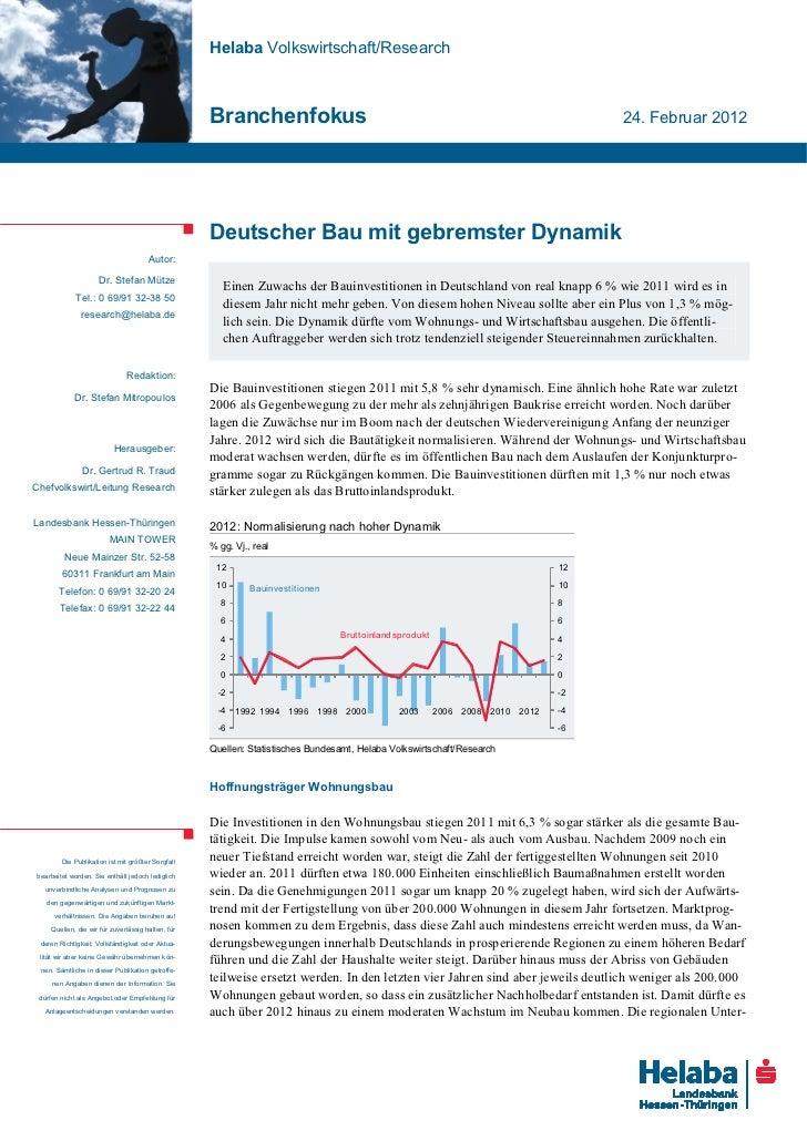 Helaba Volkswirtschaft/Research                                                   Branchenfokus                           ...