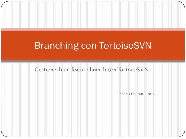 Branching con TortoiseSVN