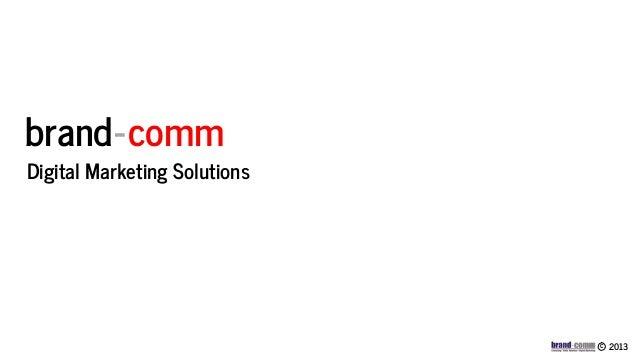 Brand comm digital marketing credentials