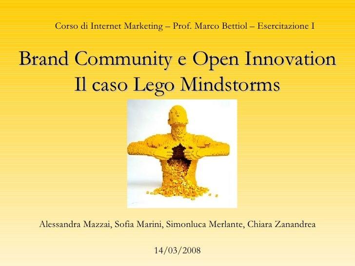 Brand Community e Open Innovation - Il caso Lego