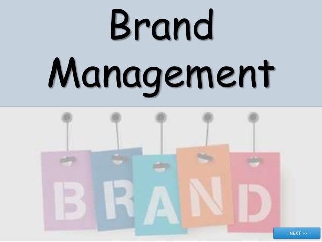 understanding Brand management