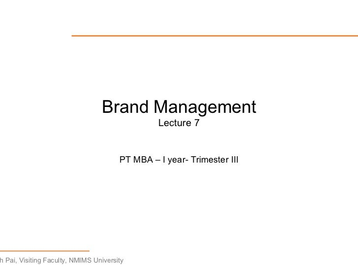 Brand Management   Lecture7