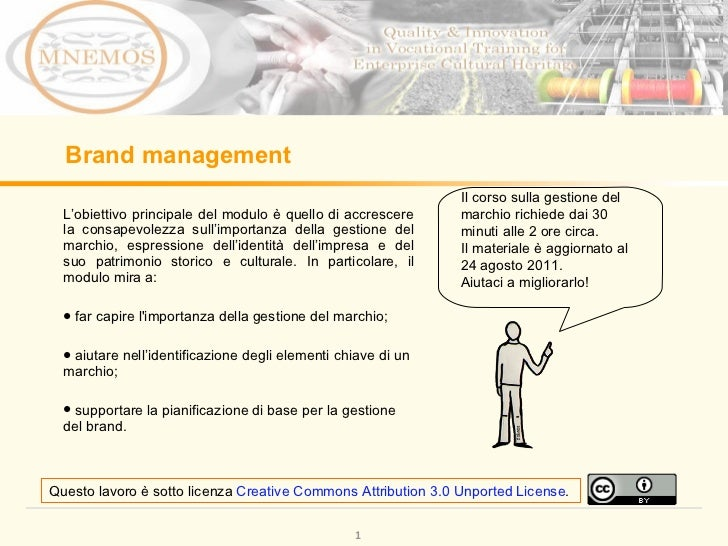 Brand Management Learning Module IT