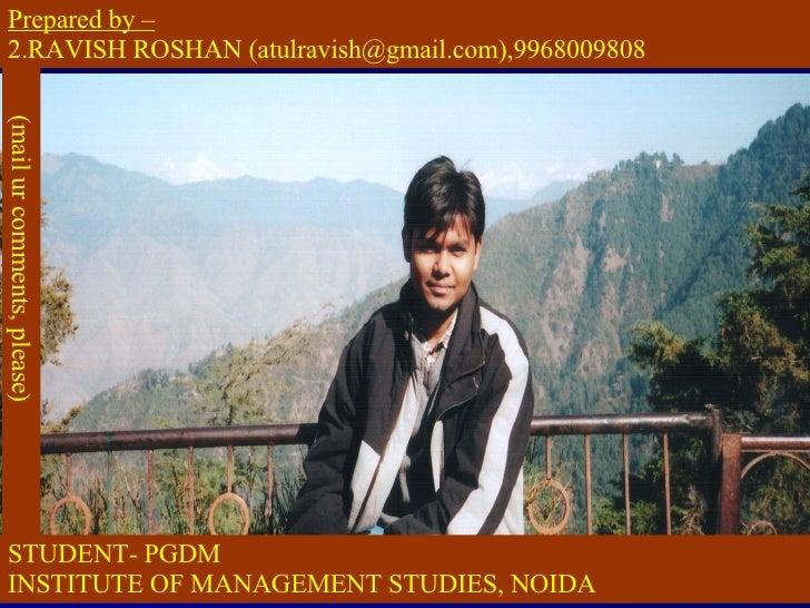 brand management-by ravish roshan,delhi