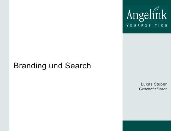 Branding und Search Lukas Stuber Geschäftsführer