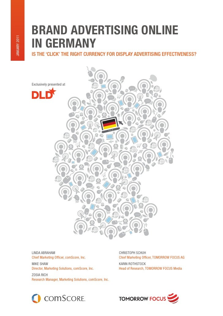 BRAND ADVERTISING ONLINEJanuary 2011               IN GERMANY               Is the 'ClICk' the rIght CurrenCy for DIsplay ...