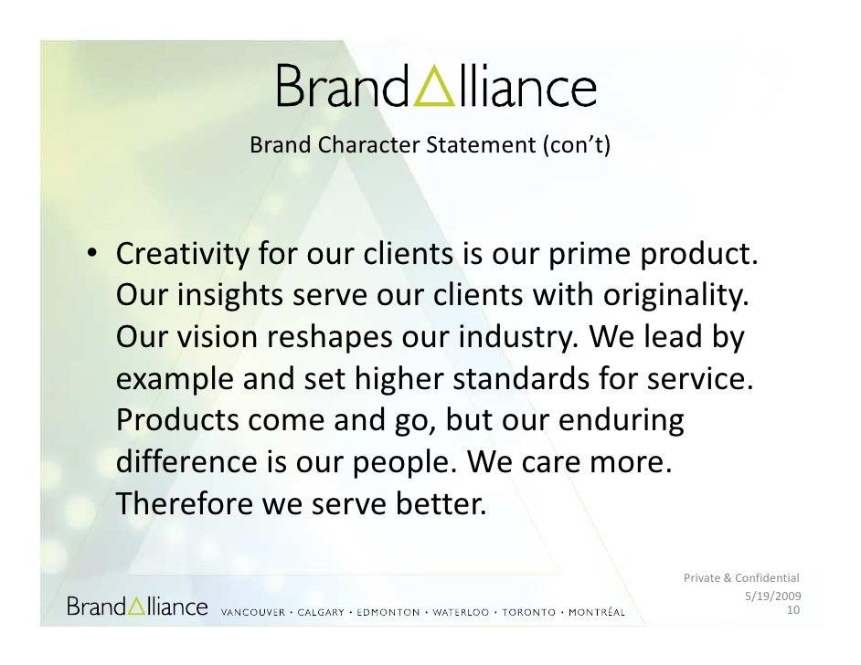 Branding statement