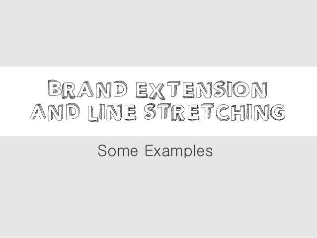 Brand Extension And Line