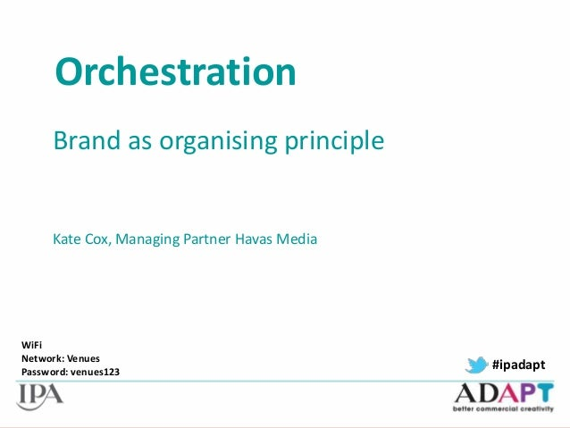 ADAPT: Brands as an organising principle