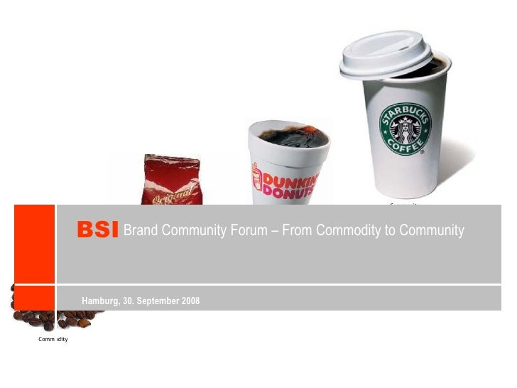 Brand Community Forum – From Commodity to Community