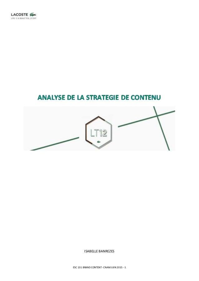 ESC 131 BRAND CONTENT -CNAMJUIN 2015 -1 ISABELLE BANREZES